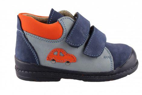 Salus kisfiú supinált cipő, oldalán autó